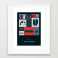 annie hall Framed Art Prints featuring Annie Hall by Sherif Adel