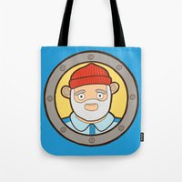the life aquatic Tote Bags featuring The Life Aquatic by evannave