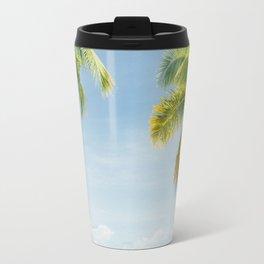 Palm trees, hammock Travel Mug