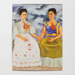 Two fridas art Poster