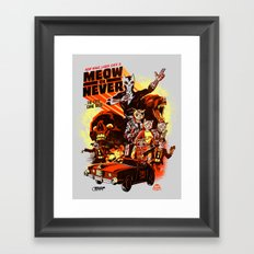 New Wave Laser Cats 2: Meow or Never Framed Art Print