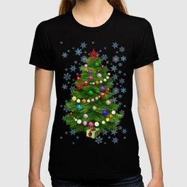 Christmas tree & snow v.2 T-shirt