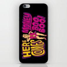 Here Comes Money Boo-Boo iPhone & iPod Skin