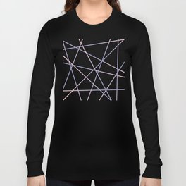 Rose Quartz & Serenity on Black Long Sleeve T-shirt