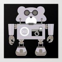 godard Canvas Prints featuring Robot Alpha 60 (Hommage à Jean-Luc Godard) by EinarOux
