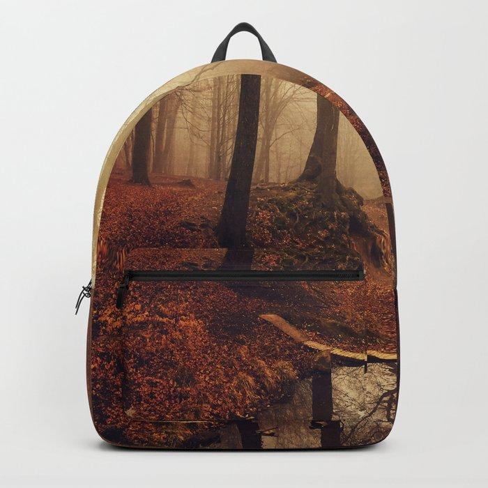 Forest Creek At Sunrise Backpack
