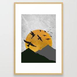 Sunset Point Framed Art Print