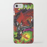 spawn iPhone & iPod Cases featuring Spawn 1 cover by Mr D's Abstract Adventures