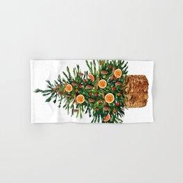 Watercolor Christmas Spruce Tree Hand & Bath Towel