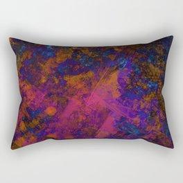 Day Dreaming - Abstract, metallic, textured, paint splatter style artwork Rectangular Pillow