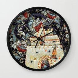 Fairy tale castle in cream Wall Clock