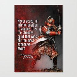 Miyamoto Musashi Samurai Winner Canvas Print