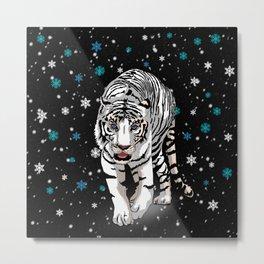 Snow tiger Metal Print