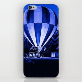 Balloon Glow in Blues iPhone Skin
