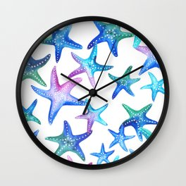 Watercolor Starfish Wall Clock