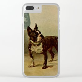 Earl,Maud (1864-1943) -The Power of the Dog 1910 (Boston Terrier) Clear iPhone Case