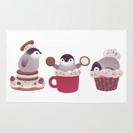 Cookie & cream & penguin Rug