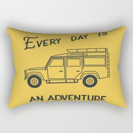 Every day is an adventure, land rover Rectangular Pillow