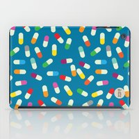 the cure iPad Cases featuring Pill cure by  R U A L E G R E