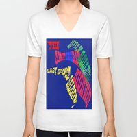 florida V-neck T-shirts featuring Florida by Ellen Turner