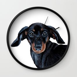 Sausage dog Wall Clock