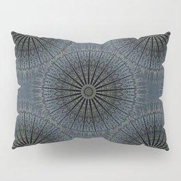 Dark Blue Mandala Pillow Sham