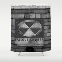 fallout Shower Curtains featuring Fallout by Lia Bedell