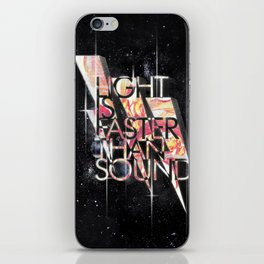 Light Is Faster iPhone Skin