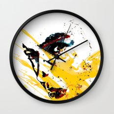 Street art yellow painting colors fashion Jacob's Paris Wall Clock