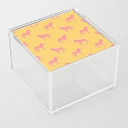 Zebra Pattern in Pink and Yellow Acrylic Box