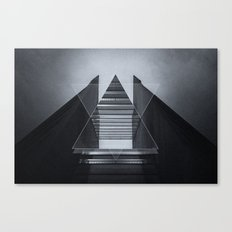 The Hotel (experimental futuristic architecture photo art in modern black & white) Canvas Print