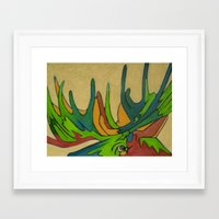 modest mouse Framed Art Prints featuring Modest Moose by ccepukas