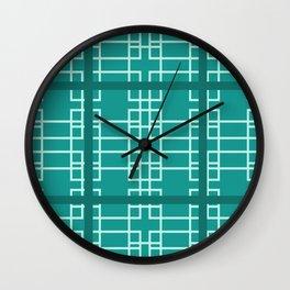 Midcentury Modern Geometric Turquoise Wall Clock