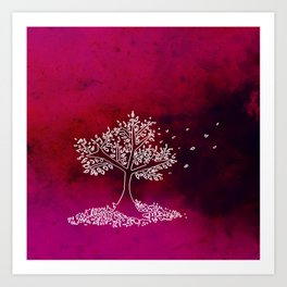Wind On a Pink Day Art Print