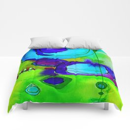 Magical Thinking No. 2L by Kathy Morton Stanion Comforters