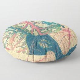 Surreal Caladium Floor Pillow