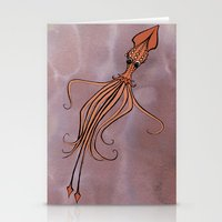 squid Stationery Cards featuring Squid by Jennifer Leedy Steiner
