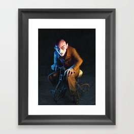 Nosferatu On A Tricycle Framed Art Print