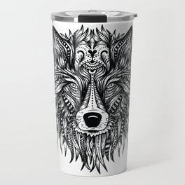 WOLF HEAD ART DESIGN Travel Mug