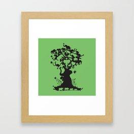 For the Love of Elephants Framed Art Print