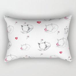 Love Fox Doodle Art Rectangular Pillow