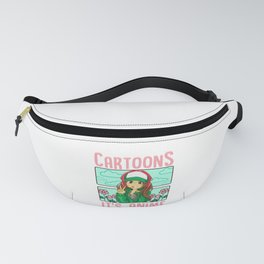 Cute It's Not Cartoons It's Anime Addicted Pun Fanny Pack