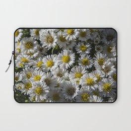 White Flowers Laptop Sleeve
