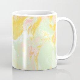 Marble Mist Yellow Green Pink Coffee Mug