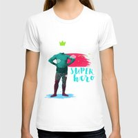 super hero T-shirts featuring SUPER HERO by SNEP
