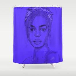 Joan in purple Shower Curtain