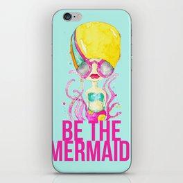 golden.  a happy mermaid iPhone Skin
