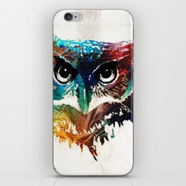 Colorful Owl Art - Wise Guy - By Sharon Cummings iPhone Skin