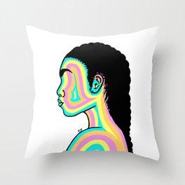 Girl Of Color Throw Pillow