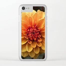 Flower Portrait - Fire Flower Clear iPhone Case